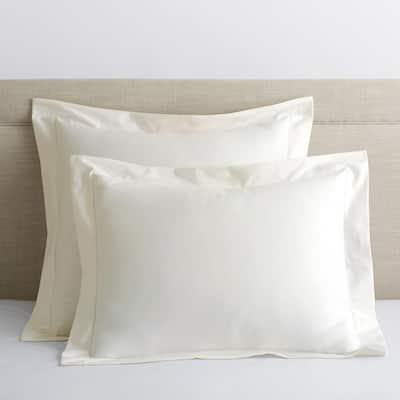 Legends Hotel Ivory 450-Thread Count Wrinkle-Free Supima Cotton Sateen Standard Sham