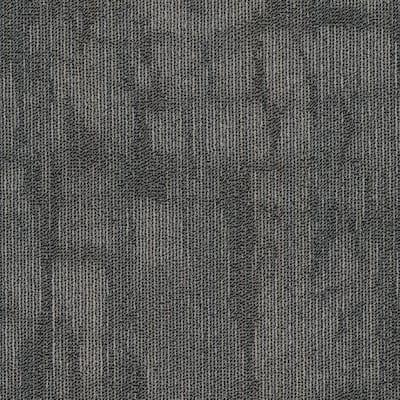 Bradstreet Steel Loop Pattern Commercial 24 in. x 24 in.Glue Down Carpet Tile (20 Tiles/Case)