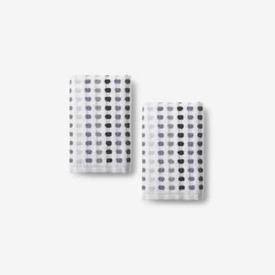 Spectrum Gray Geometric Cotton Wash Cloth