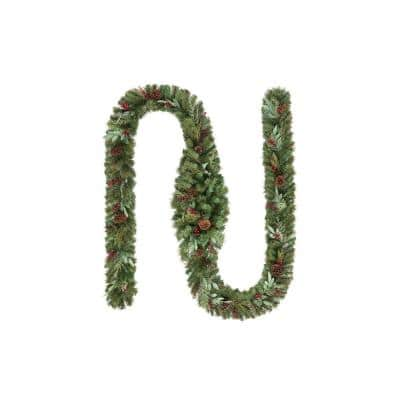 17 ft. Woodmoore Unlit Artificial Christmas Garland