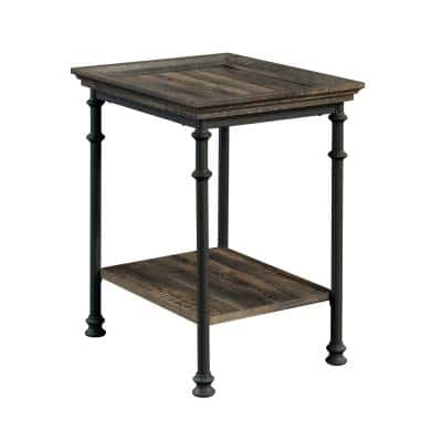 Canal Street 21.496 in. Carbon Oak Rectangle Engineered Wood End Table