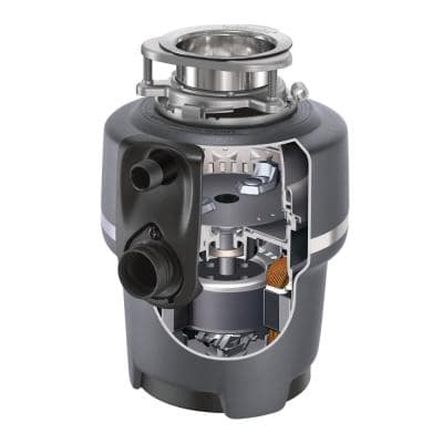 Evolution Compact Quiet Series 3/4 HP Continuous Feed Garbage Disposal with Dishwasher Connector