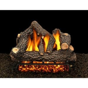 Cheyenne Glow 18 in. Vented Propane Gas Fireplace Log Set with Complete Kit, Safety Pilot Lit