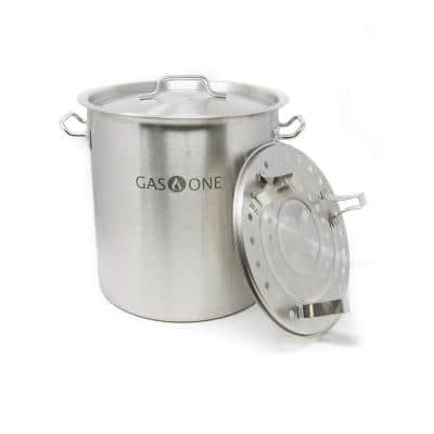 24 qt. Stainless Steel Stock Pot with Lid