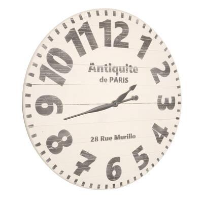 30 in. Oversized Antiquite de Paris Wall Clock
