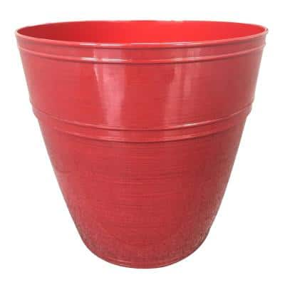 Rosemary 12.1 in. x 10.9 in. Chili High-Density Resin Planter Fits 12in. Drop N'Bloom