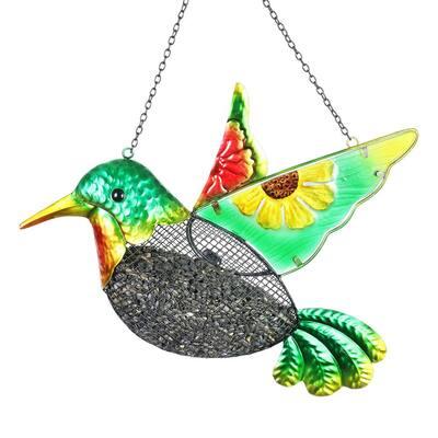 Metal Hummingbird Mesh Basket Bird Feeder