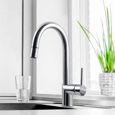 Sentinel Sentinel Single-Handle Pull Down Sprayer Kitchen Faucet with Hot Water Safety Switch in Oil Rubbed Bronze