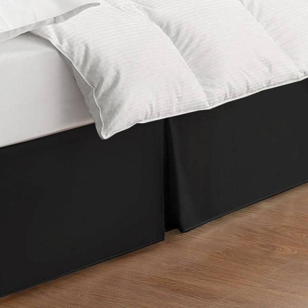 Bed Maker S Tailored Wraparound Bed Skirt Fre24514blac05 The Home Depot