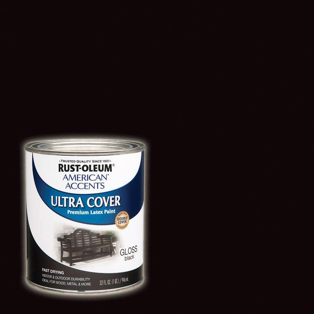 32 oz. Ultra Cover Gloss Black General Purpose Paint