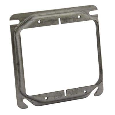 4 in. Square 2-Device Cover, 1/2 in. Raised