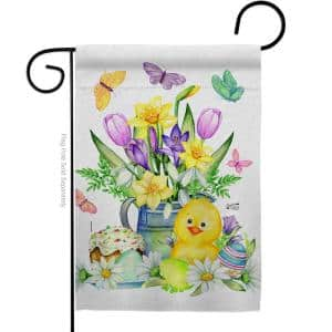 13 in. x 18.5 in. Easter Duckie Garden Flag Double-Sided Spring Decorative Vertical Flags