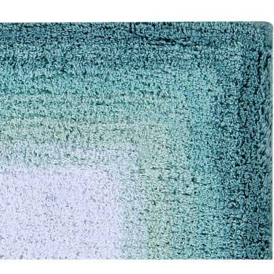 Torrent Collection Turquoise 20 in. x 60 in. 100% Cotton Bath Rug