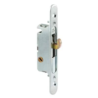 Mortise Lock, 4-5/8 in., Steel, 45 Degree Keyway, Round Faceplate, Spring-Loaded