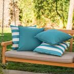 Coronado Teal Outdoor Throw Pillow (4-Pack)