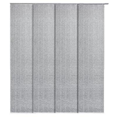 Munich Castle + 99.99% Blackout Adjustable Sliding Window Panel Track with 23 in. Slates Up to 86 in. W x 96 in. L