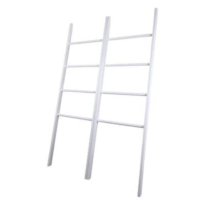 Decorative 38 in. W x 15. in. D White Twin Ladders