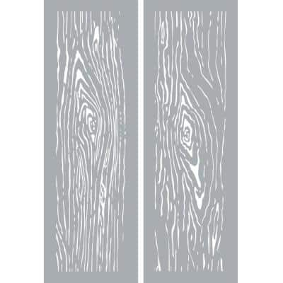 6 in. x 18 in. Woodgrain Stencil