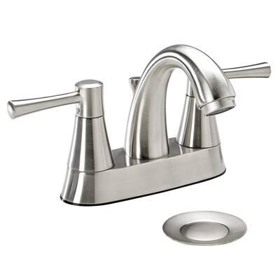 Belanger 4 in. Centerset 2-Handle Bathroom Faucet in Brushed Nickel