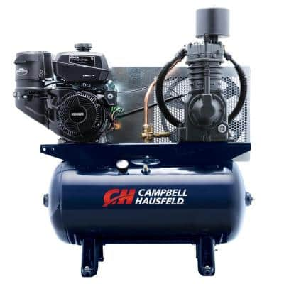 30 gal. Horizontal 26.1CFM 14HP Kohler Two Stage Stationary Gas Engine Air Compressor