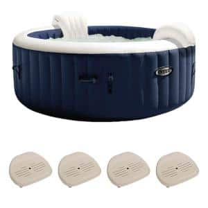 6-Person Inflatable Hot Tub Bubble Jet Spa, PureSpa Slip-Resistant Seat(4-Pack)