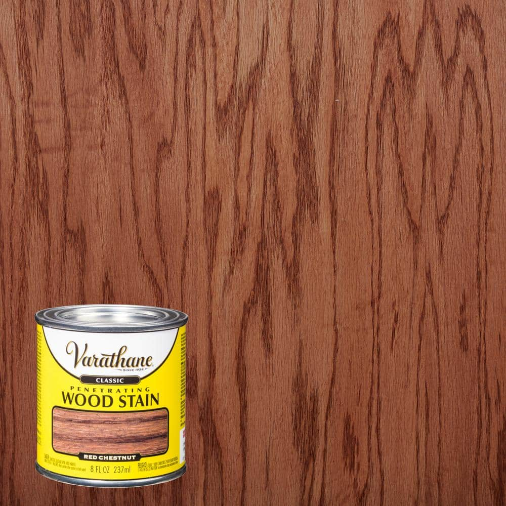 Varathane 8 Oz Red Chestnut Classic Wood Interior Stain 4 Pack 339736 The Home Depot