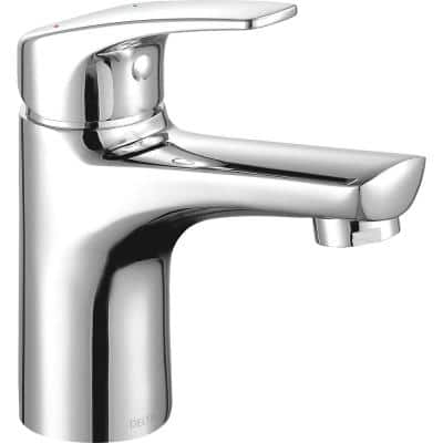 Modern Single Hole Single-Handle Project Pack Bathroom Faucet with Metal Pop-Up in Chrome