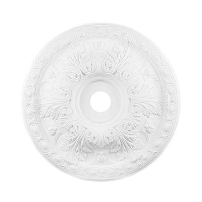 28 in. White Ceiling Medallion