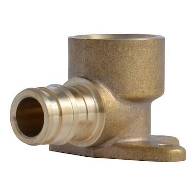 1/2 in. PEX-A x 1/2 in. FNPT Brass Drop Ear 90-Degree Elbow Fitting