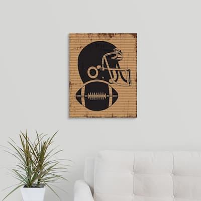 """Football Equipment"" by Melody Hogan Canvas Wall Art"