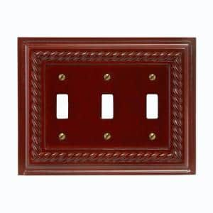 Brown 3-Gang Toggle Wall Plate (1-Pack)