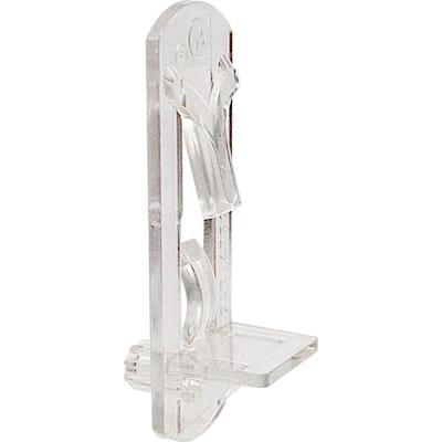 1/4 in., Plastic, Clear Locking Shelf Pegs (6-pack)