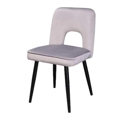 Nancy Gray Velvet Upholstered Dining Chair (Set of 2)