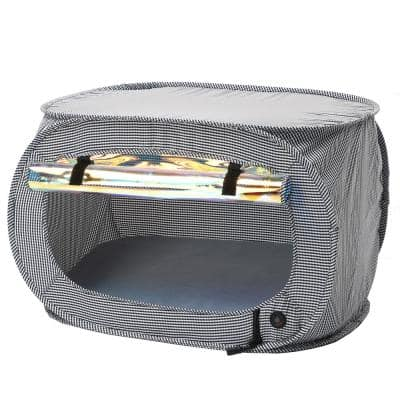 Grey Enterlude Electronic Heating Lightweight and Collapsible Pet Tent