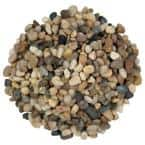 Mixed Polished 0.5 cu. ft. per bag (0.25-0.5 in.)Bagged Landscape Rock (55 Bags / Covers 27.5 cu. ft.)
