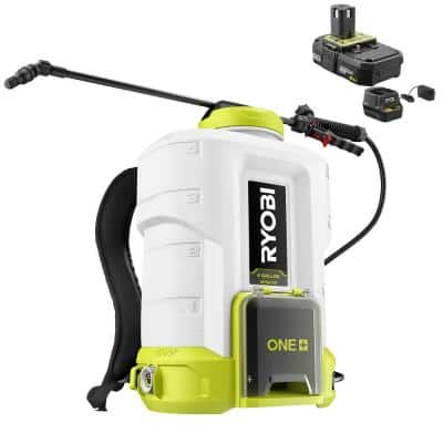 4 Gal. ONE+ 18V Lithium-Ion Cordless Backpack Chemical Sprayer - 2.0 Ah Battery and Charger Included