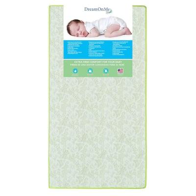 Little Butterflies 6 Inch 2 in 1 Green Foam Core Crib and Toddler Bed Mattress