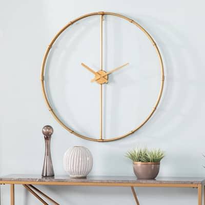 Jesh Gold Large Metal Clock