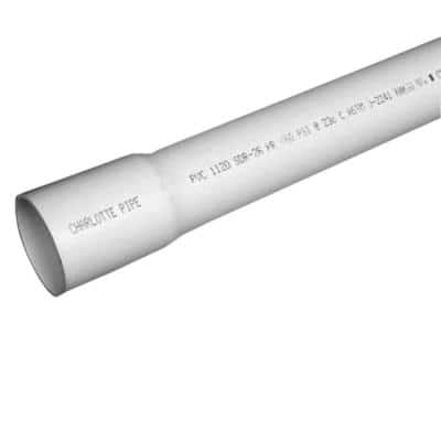3/4 in. x 10 ft. PVC Sch 40 Belled End Pipe