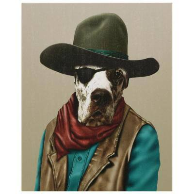 """20 in. x 16 in. """"Cowboy"""" Graphic Art on Wrapped Canvas Wall Art"""