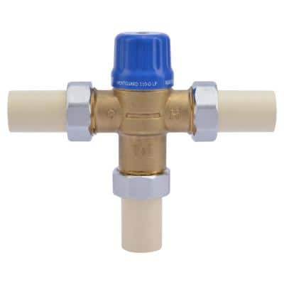 3/4 in. HG-110 Brass Thermostatic Mixing Valve with CPVC ends