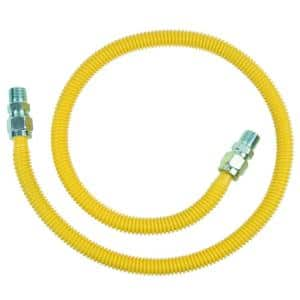 ProCoat 1/2 in. MIP x 1/2 in. MIP x 48 in. Stainless Steel Gas Connector 5/8 in. O.D. (106,000 BTU)