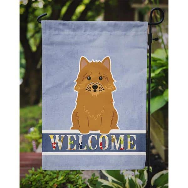 Caroline S Treasures 11 In X 15 1 2 In Polyester Norwich Terrier Welcome 2 Sided 2 Ply Garden Flag Bb5601gf The Home Depot