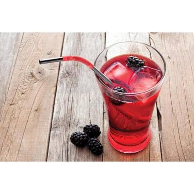 Eco-Friendly 2-Piece Red and Black Reusable Straws (Set of 4)