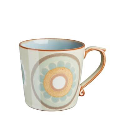 Heritage Terrace 13.18 oz. Multi-Colored Stoneware Large Coffee Mug