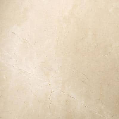 Marble Crema Marfil Classico Polished 23.62 in. x 23.62 in. Marble Floor and Wall Tile (4 sq. ft.)