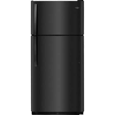 18 cu. ft. Top Freezer Refrigerator in Black