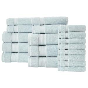 Egyptian Cotton 18-Piece Towel Set in Raindrop