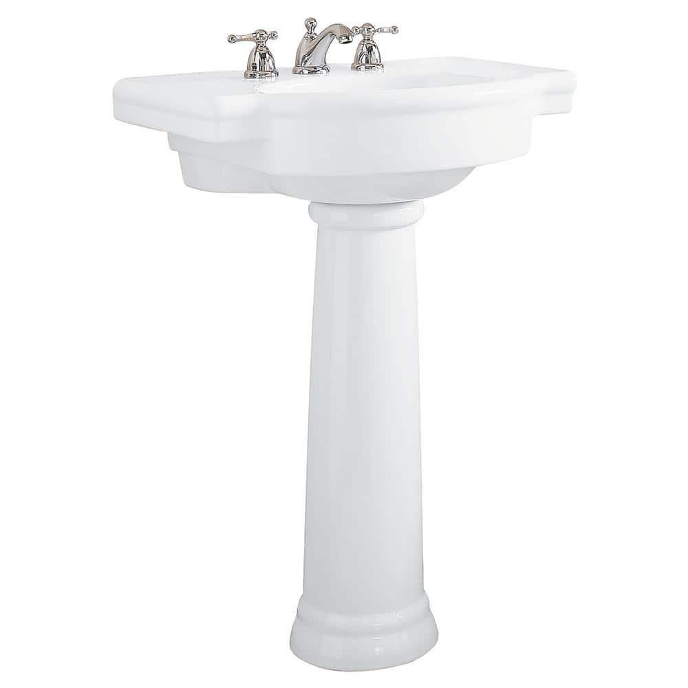 american standard retrospect pedestal combo bathroom sink in white 0282 800 020 the home depot