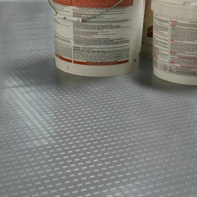 """Block-Grip"" 4 ft. x 12 ft. Brown Commercial PVC Flooring"